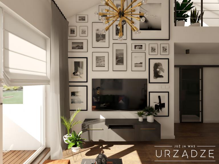 Mieszkanie z antresolą w klimacie loftowym